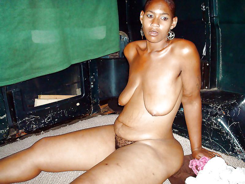 Hairy naked black women