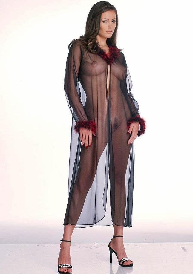 Women See Through Sheer Mesh Sexy Lingerie Nightwear Underwear Abydoll Sleepwear