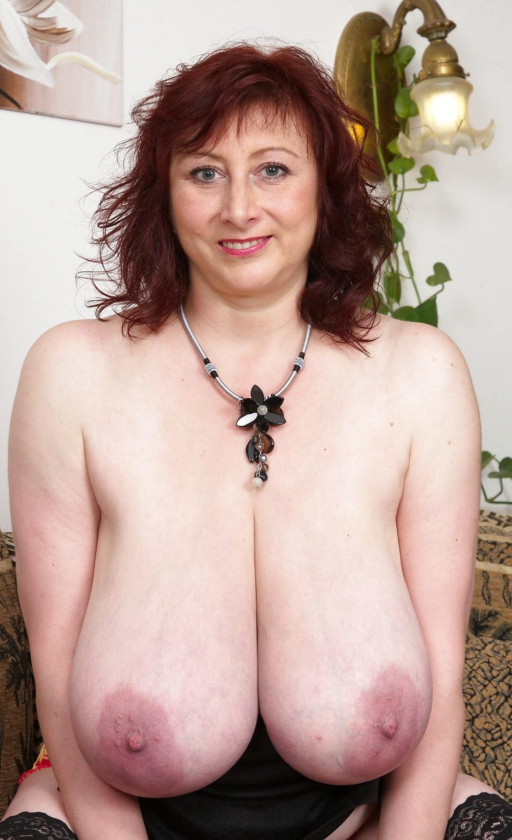 Saggy elder tits