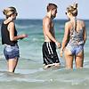 Julianne Hough bikini bottoms at a beach and hotel in Miami