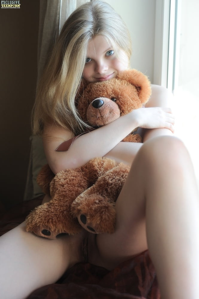 Porn stars naked with teddy bears #12