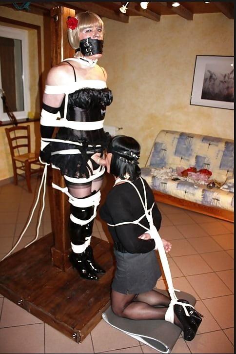 Sissy bondage impale — img 2