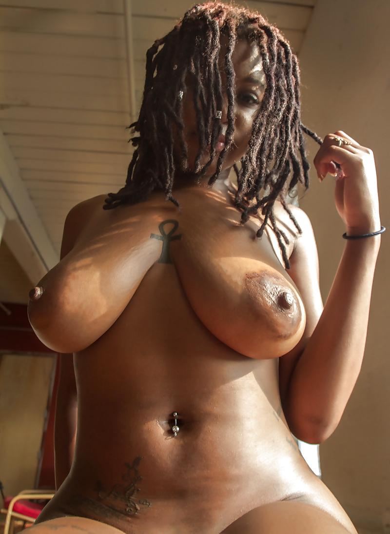 Ebony erect nude #3