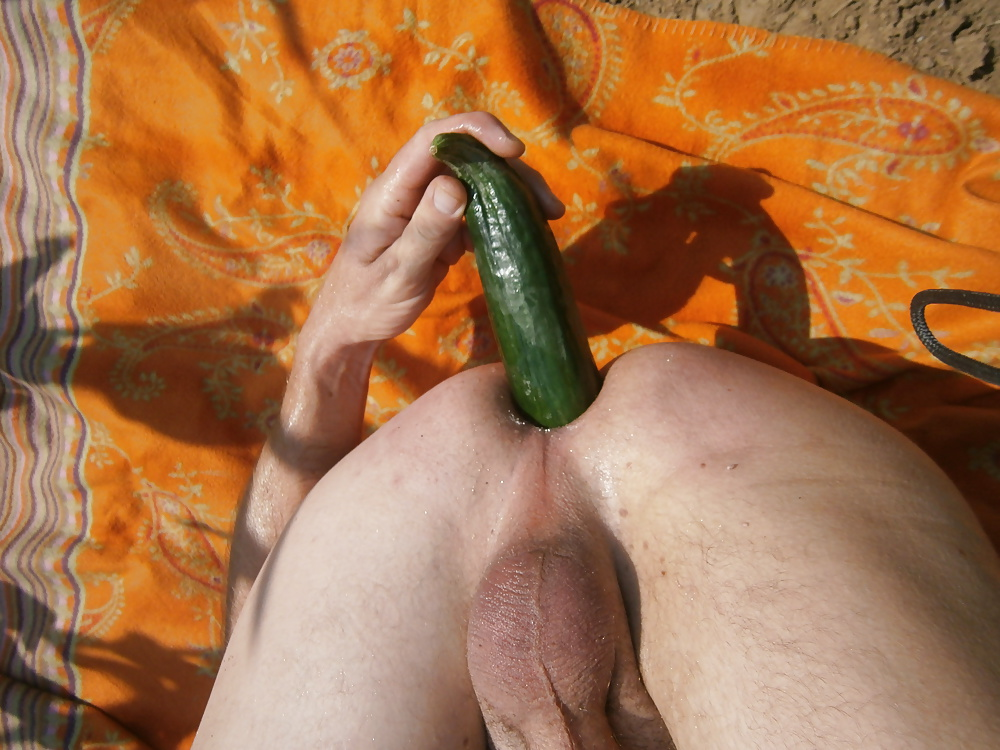 Gay cucumber masterbation