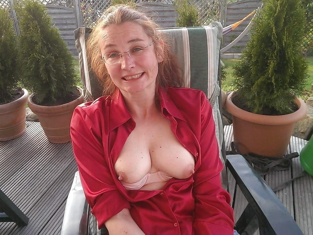 My neighbor showing her big tits