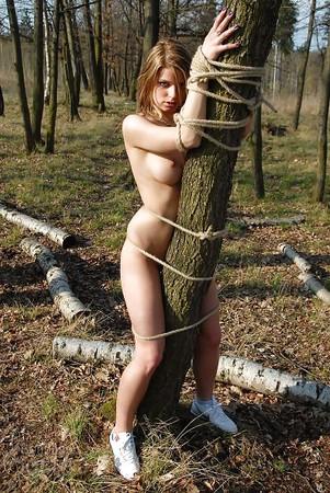 self bikini Outdoor bondage