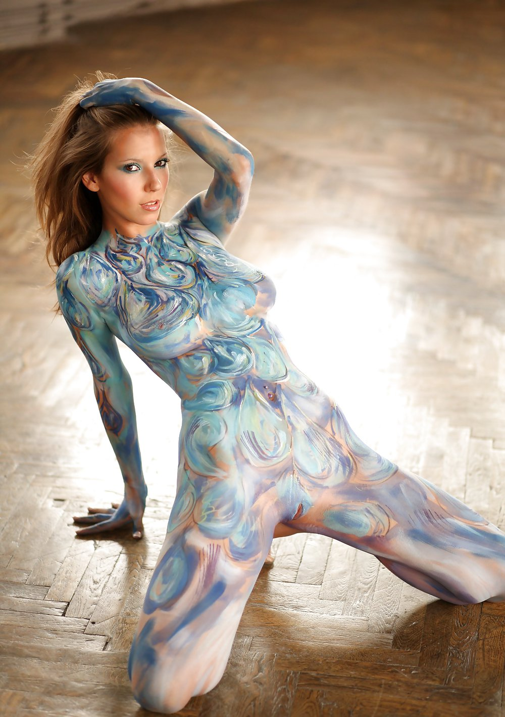 Body painting girls erotic 15