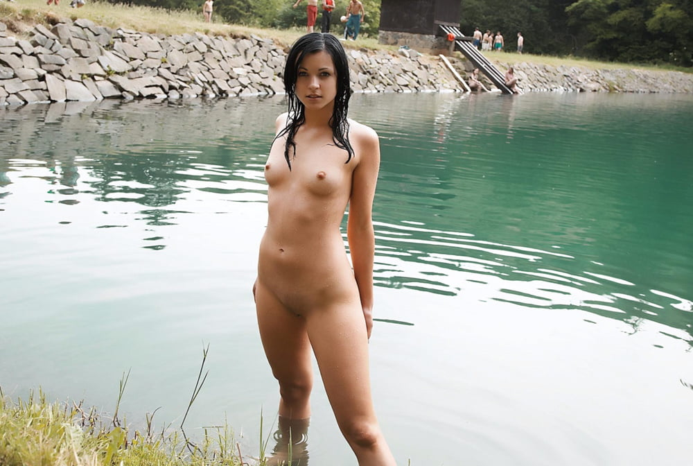 Girl With Nice Breasts Fucks Hard Next To The Lake