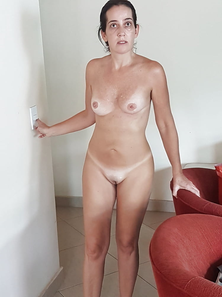 Reluctant nude woman