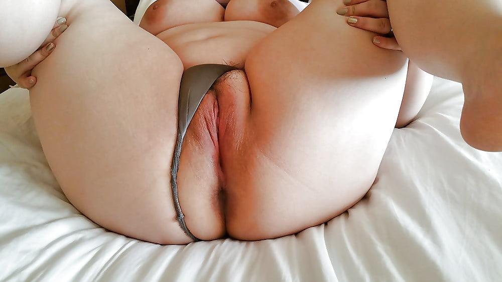 Chubby Brunette Rear View