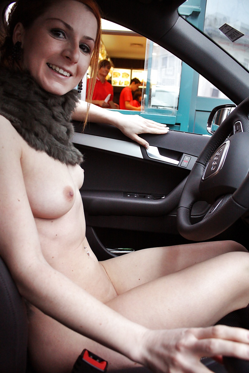 Tits in the car