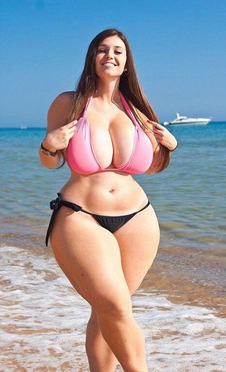 Sexy Plus Size Model Black Corset Stock Photo