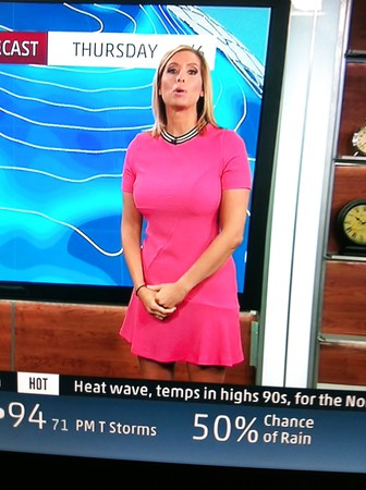 Weather girls with big tits