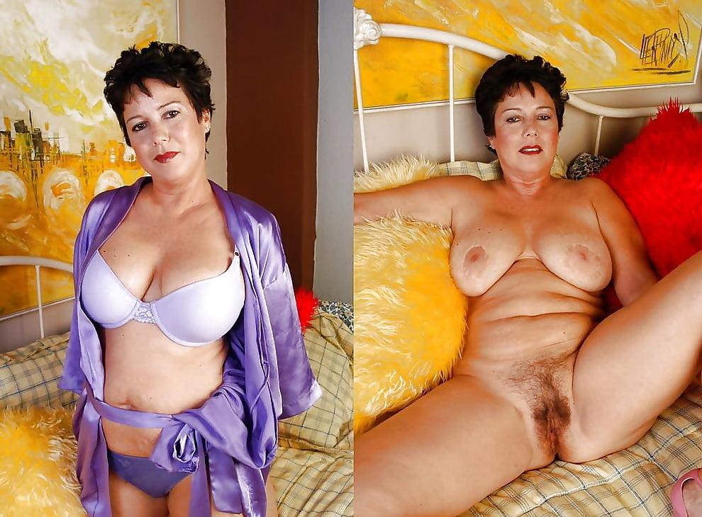 Milfs matures dressed undressed