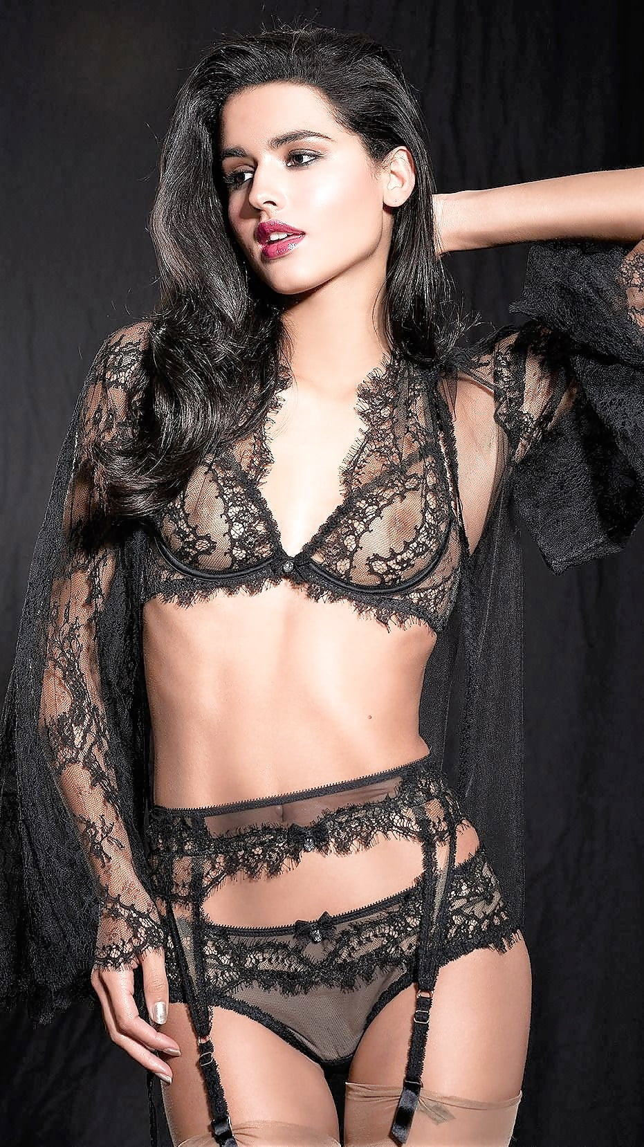 Women sexy lingerie underwear erotic corset lace mesh sleepwear nightwear set ukbra brief sets