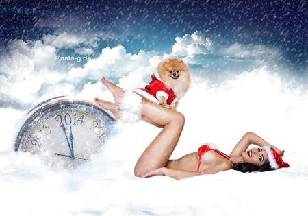 Micaela Schaefer mit Sexy Julia - Christmas