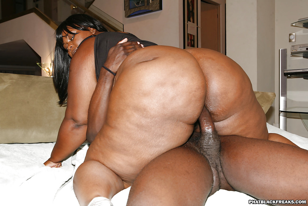 Obese black woman with her black hubby cock fucking