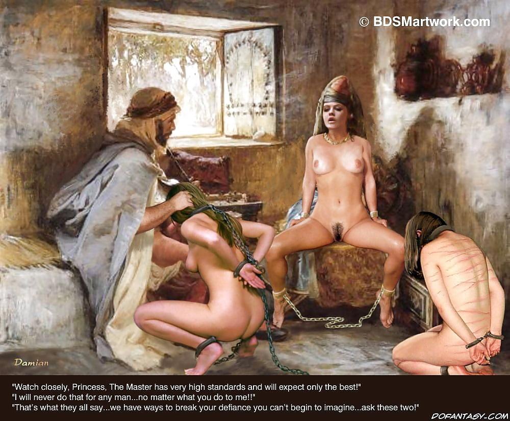 Попку фото голых рабынь в старину на продаже