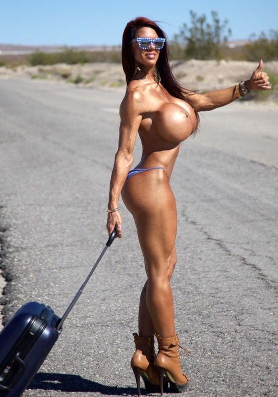 Huge tits hitchhiking