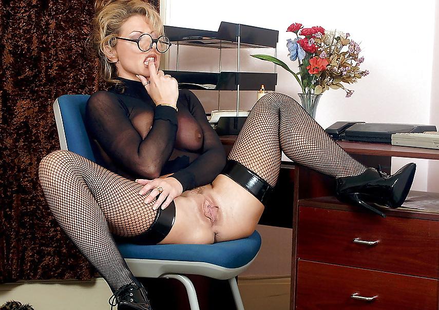 Blonde Mature Office Upskirt