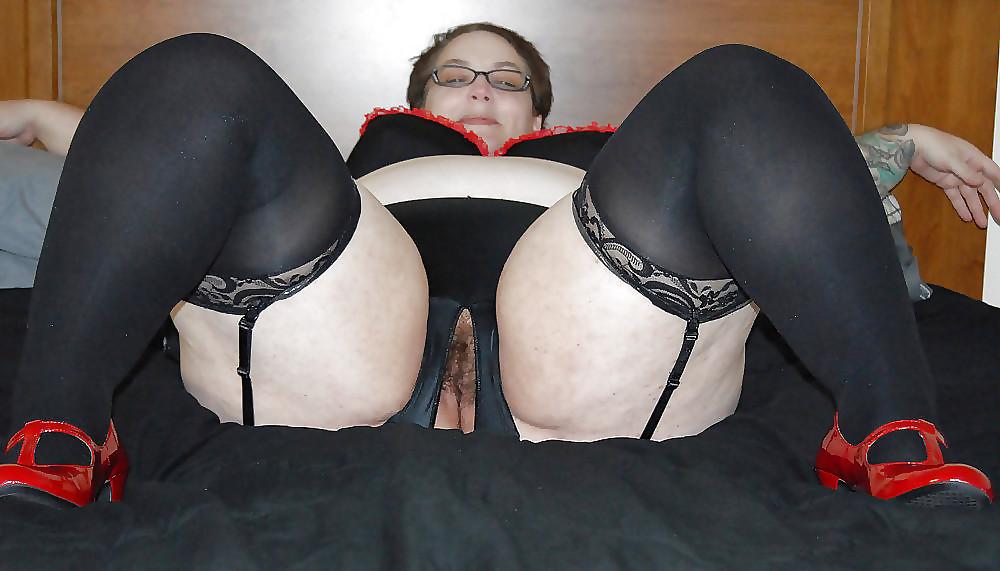 Stockings panties matures