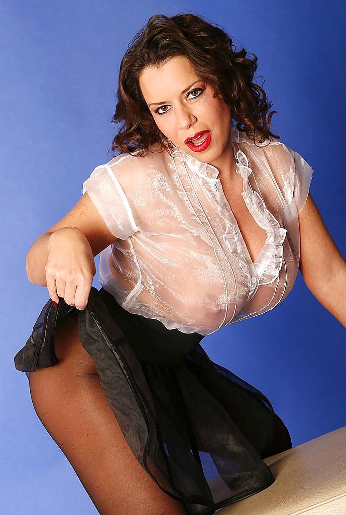 Busty milf in pantyhose-7861