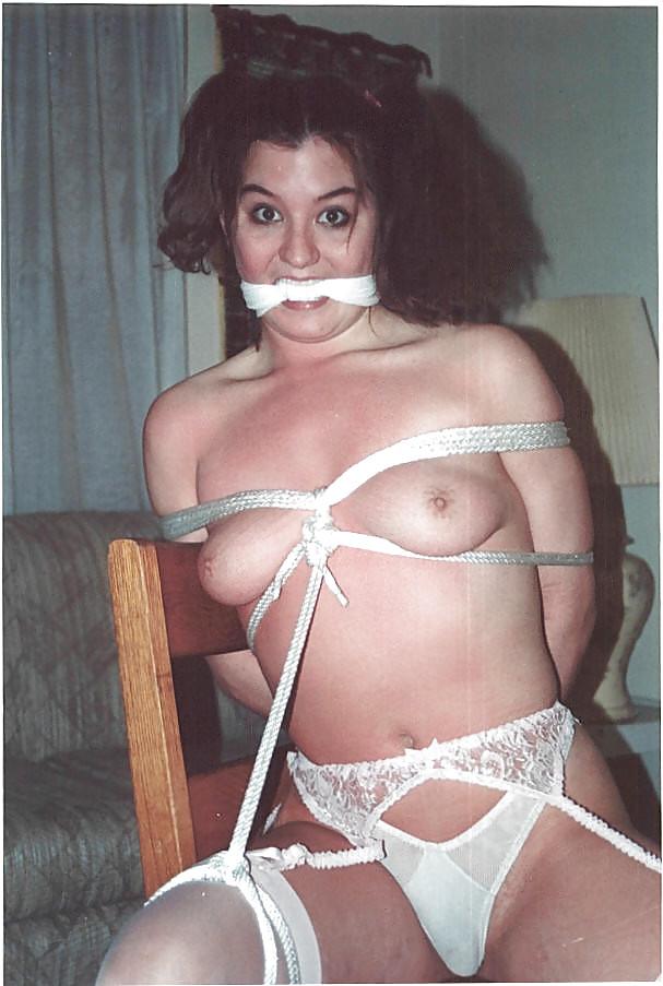 Vintage brunette bondage — pic 5