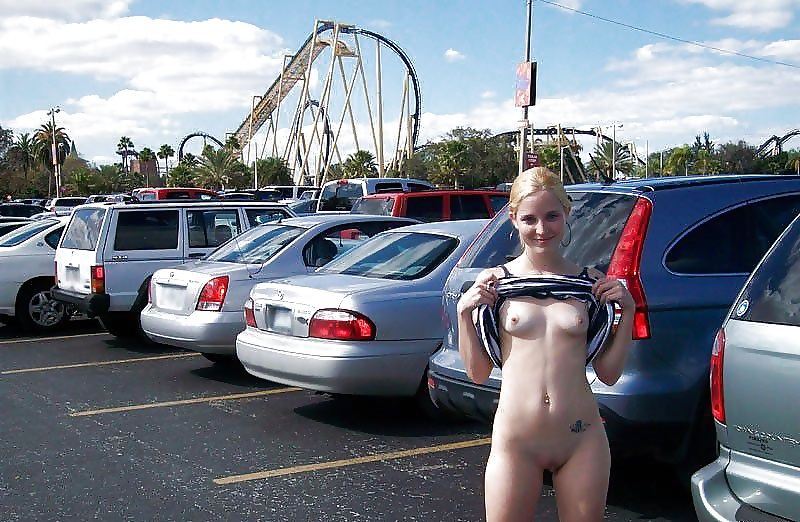 Naked girls on roller coasters #4