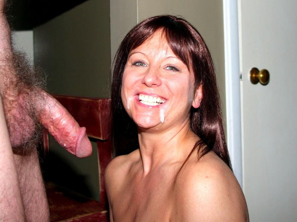 Wife huge facial cum