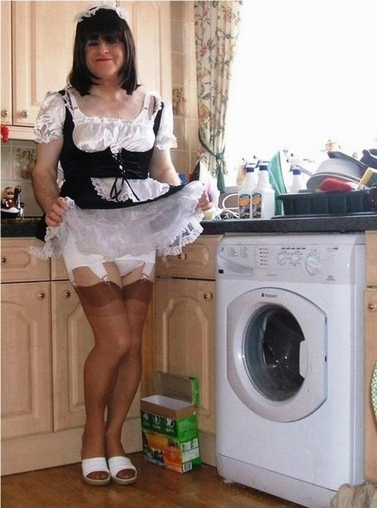 В образе домохозяйки трансвеститы все фото