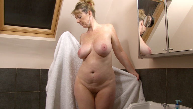 Busty british milf first time on camera real shower orgasm
