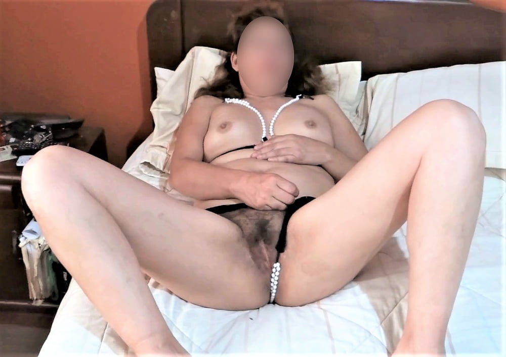 MY HOT WIFE'S BIG HAIRY PUSSY - 45 Pics