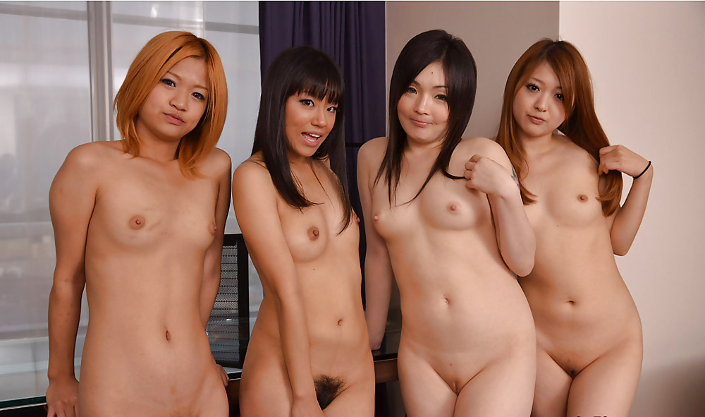 Naked japanese girls play an orchestral concert