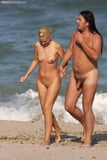 Blond Girl with Shaved Pussy on the Fkk Beach