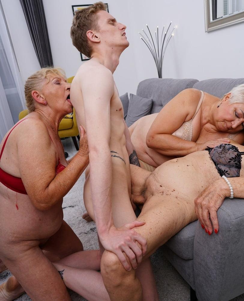 Busty mature group sex