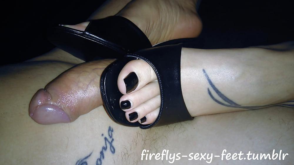 Fireflys black mules footfuck and handjob - 2 part 3