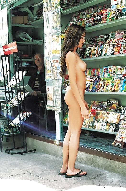 Anna Tatu Naked In Grocery Shop
