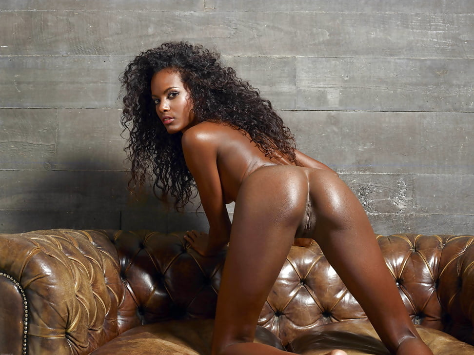 Ebony nude art model #12