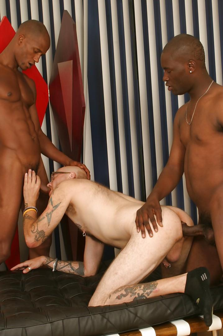 Gay black white gangbang