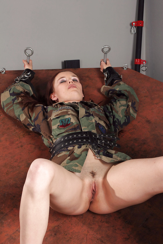 Naked Army Girl Uniform