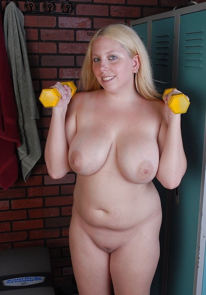 Blonde fat nude