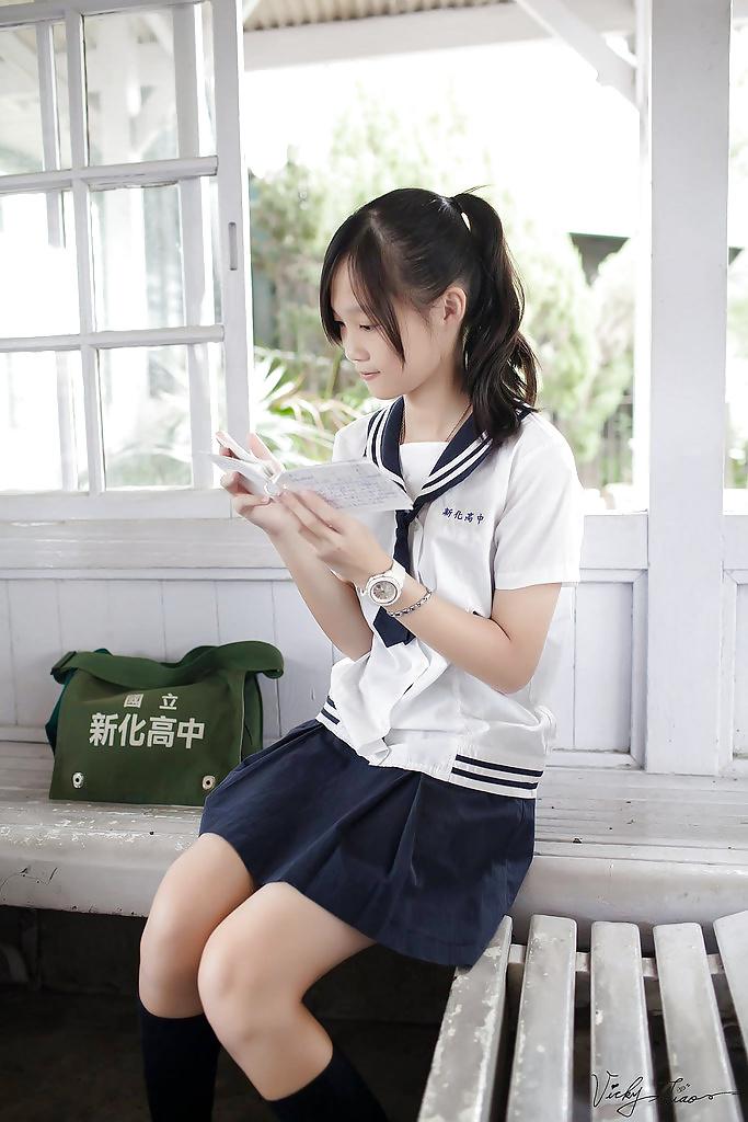 Japanese school girl strip 7