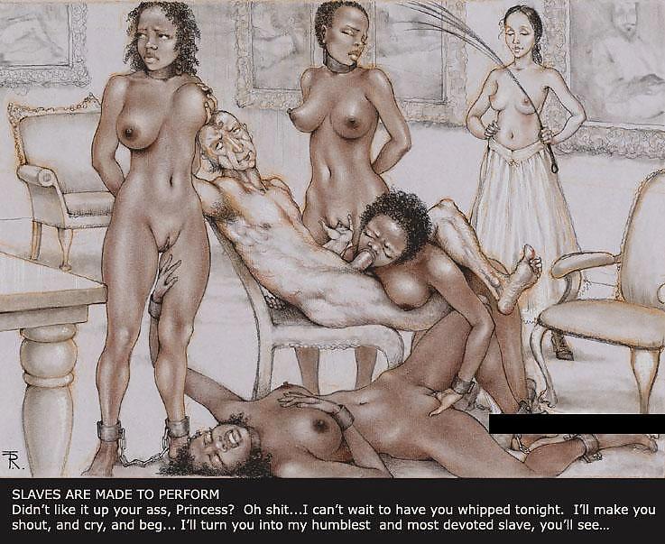 порно рисунки с рабынями вся была
