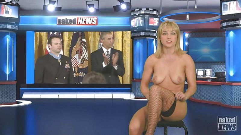 французская телеведущая голышом