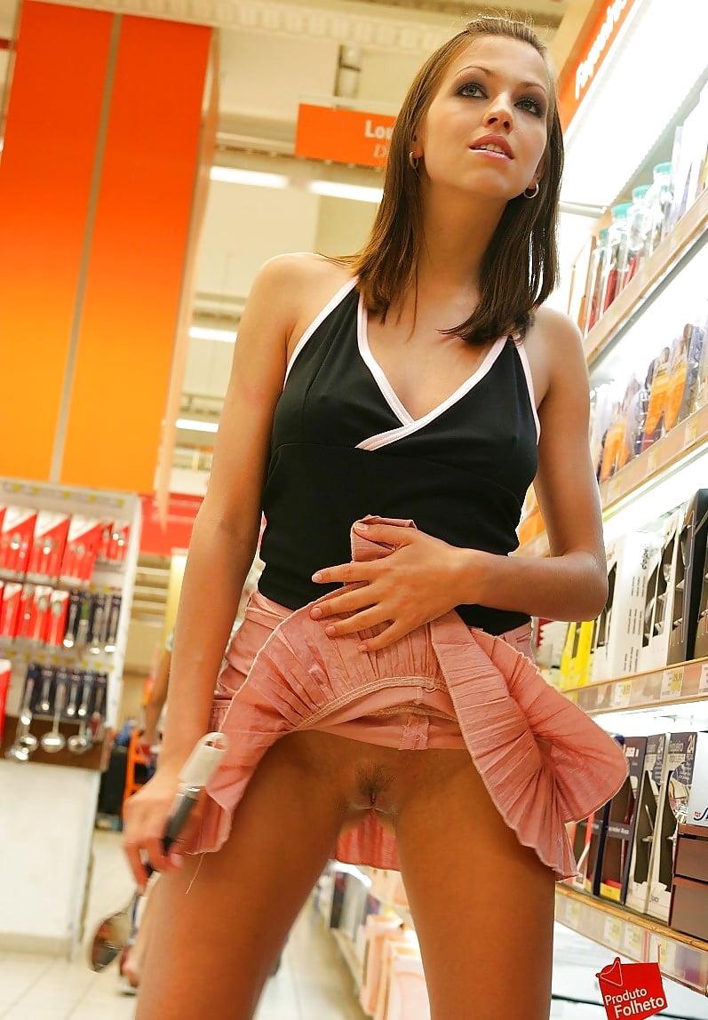 First timer bella shortest skirt possible in public