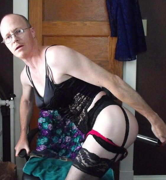 Bald Crossdresser