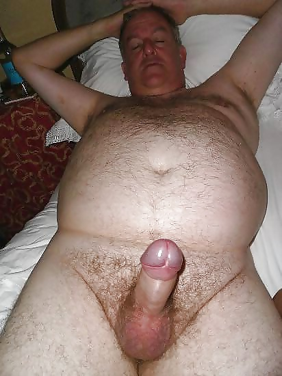 Fat fella showing off his small penis