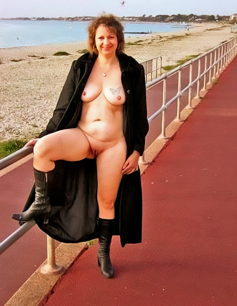 Exhibitionism woman beach