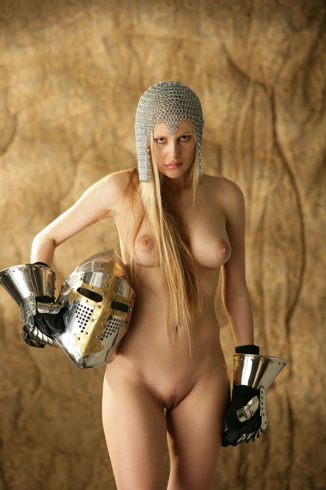 Nude medieval female warrior