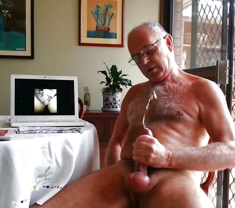 Mature Grandpa Cumshot